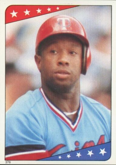 1985 O-PEE-CHEE Kirby Puckett #376 Rookie Sticker