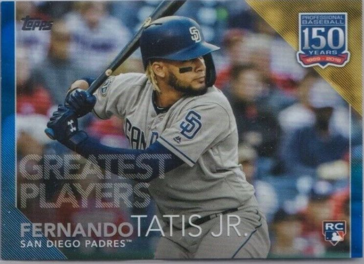 2019 Topps Update Greatest Players Fernando Tatis Jr. Blue