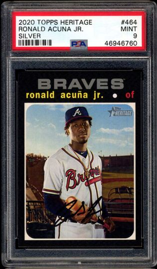 Acuna, Ronald 2020 Heritage Silver Team Name