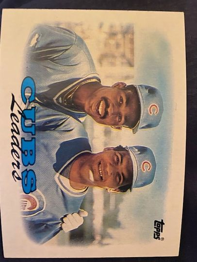 1988 Topps Cubs Leaders