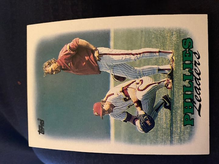 1988 Topps Phillies Leaders 669