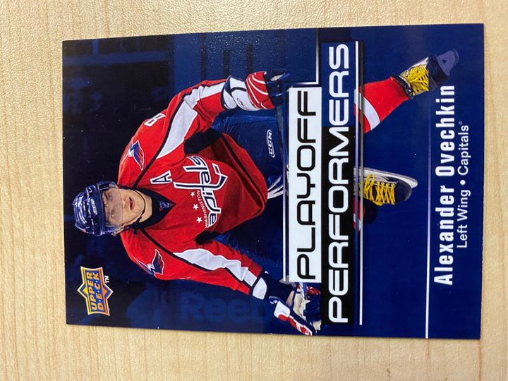 2009/10 Upper Deck Hockey Series 2, Playoff Performers, card number PP1, Alexander Ovechkin