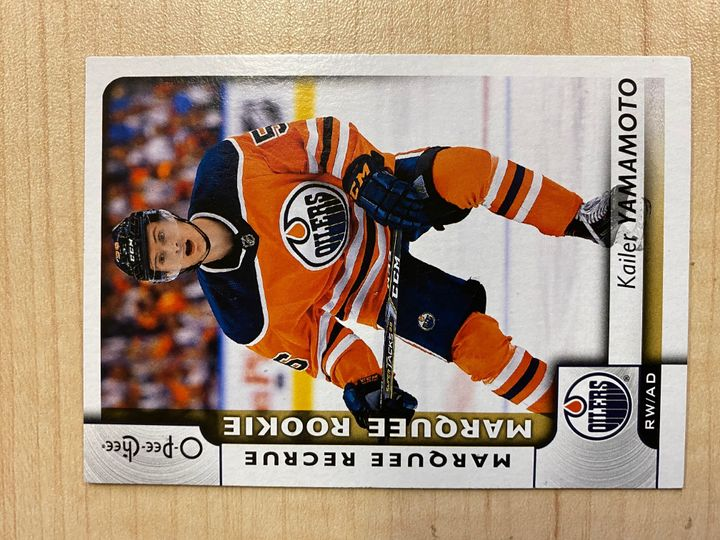 2017/18 O Pee Chee Marquee Rookie, card number 611, Kailer Yamamoto