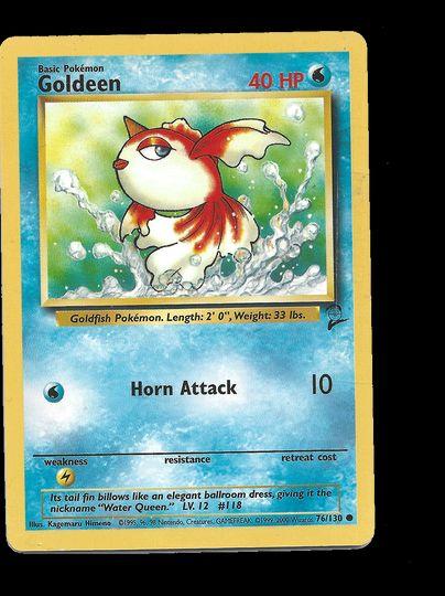 76/130 Goldeen Base set 2 Common Excellent