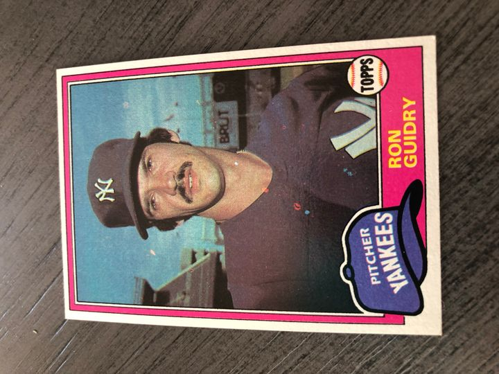1981 TOPPS RON GUIDRY 250