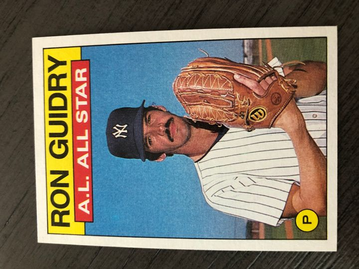 1986 TOPPS RON GUIDRY 721