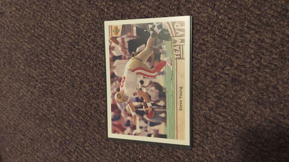 1992 Upper Deck Football Card #365 Steve Young MVP