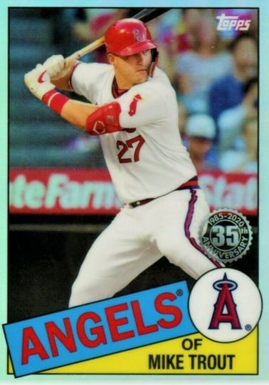 2020 Topps Chrome Mike Trout 1985 Chrome