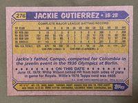1987 topps 276 jackie gutierrez