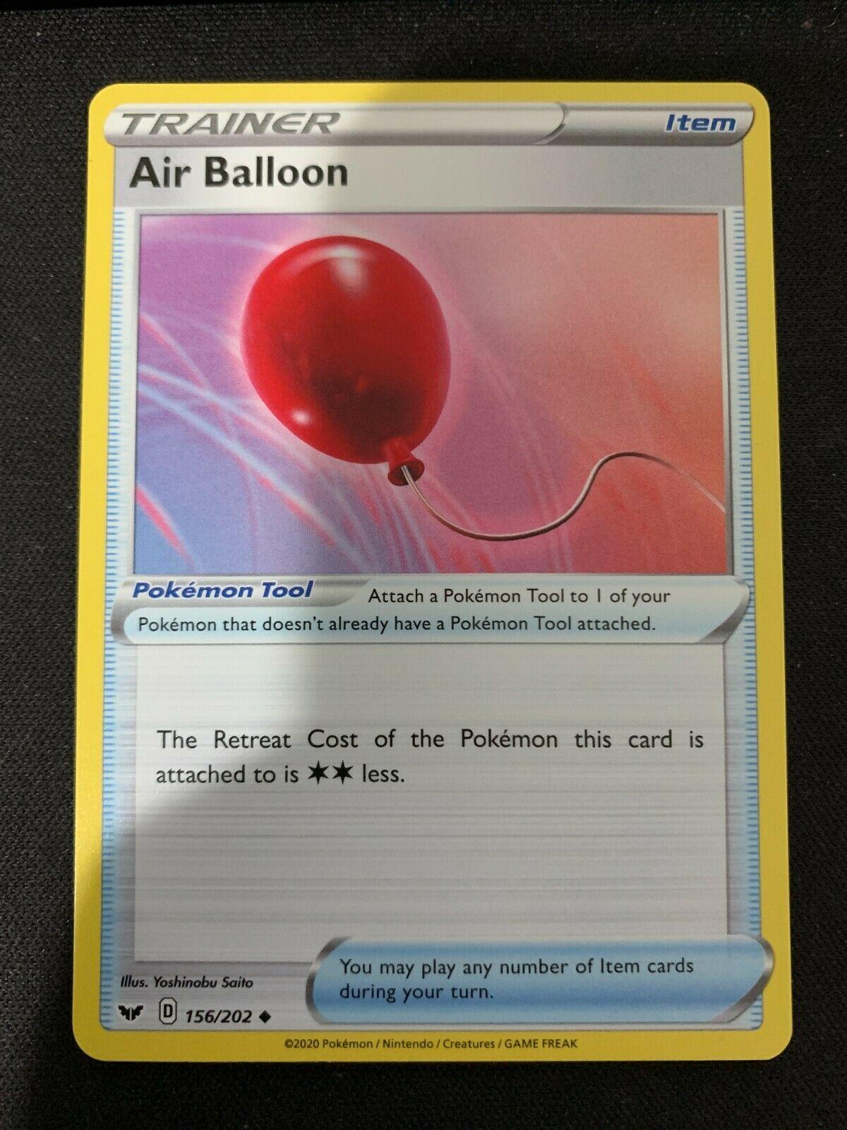 Sword /& Shield Base Set 156//202 x4 Air Balloon Uncommon NM SS
