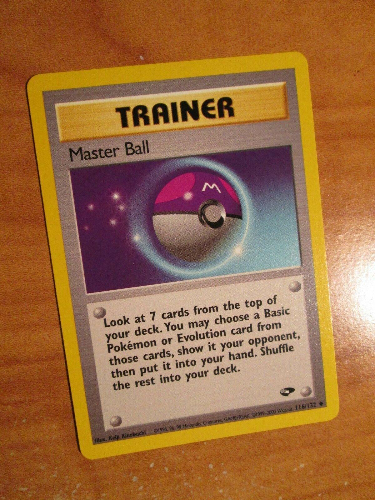 Master Ball 116//132 Trainer Gym Challenge pokemon card EXCELLENT Condition