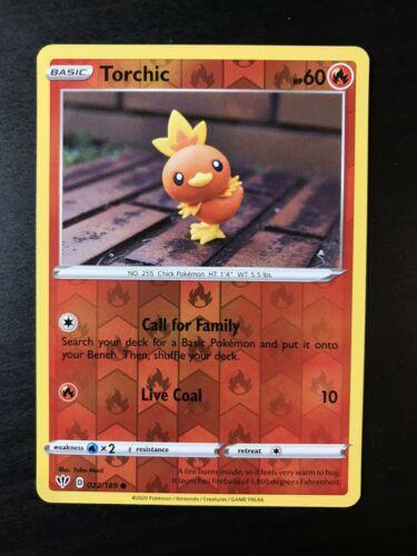 Torchic 22//189 S/&S Darkness Ablaze Holo Reverse Mint//NM Pokemon