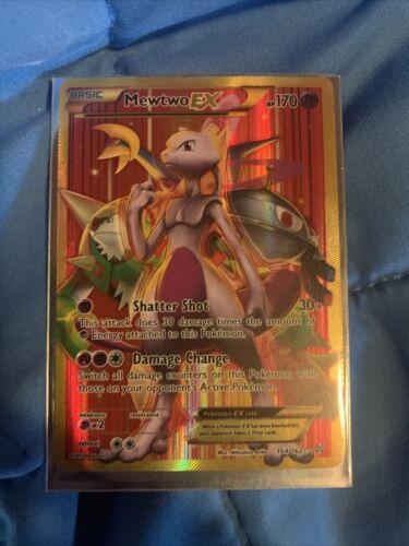 Mewtwo EX SECRET FULL ART GOLD ULTRA RARE 164//162 Pokemon XY Breakthrough NM