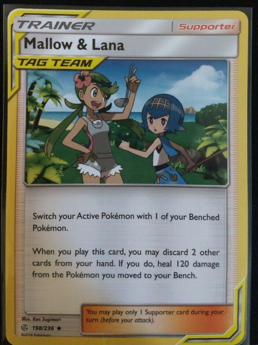 4x Mallow /& Lana 198//236 Uncommon NM-Mint Pokemon SM12 Cosmic Eclipse