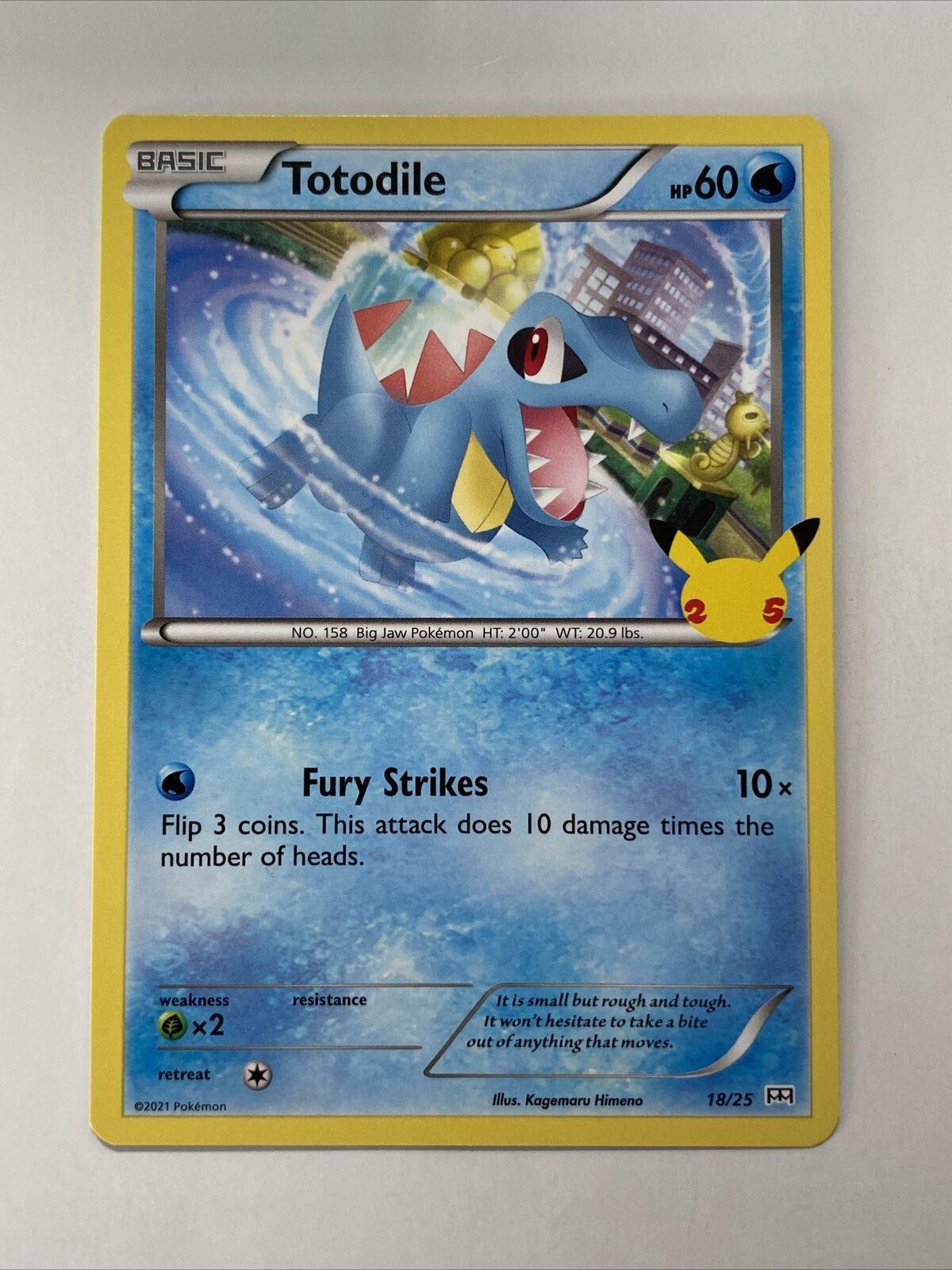 Pokemon McDonald's 25th Anniversary Totodile Base 18/25 Promo Card 2021