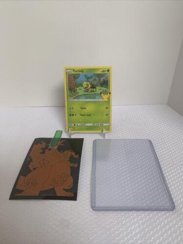 Pokemon McDonald's 25th Anniversary Turtwig 4/25 Non Holo Promo Card 2021
