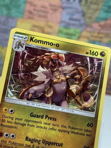 SHIPS SAME DAY Pokemon Card NEW Kommo-o 54/70 Holo Stage 2 Dragon Type 2018 Rare - Image 2