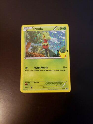 Pokemon Treecko Holo 25th Anniversary McDonald's Card 3/25