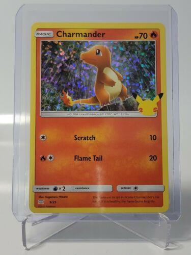 McDonald's 25th Anniversary of Pokemon CHARMANDER 9/25 Holo Foil Card NM/M 🔥💎
