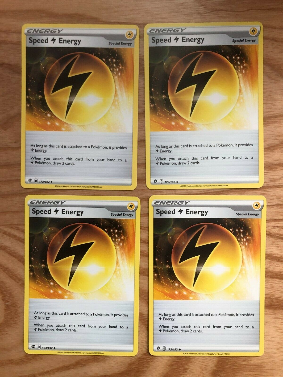 Rebel Clash Playset 4x Speed Energy 173//192 Fast Free Shipping!