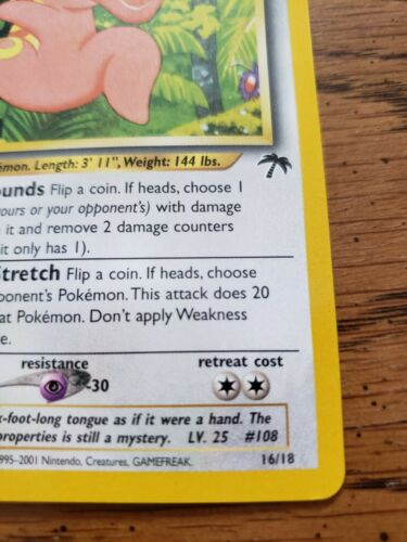 Lickitung - 16/18 Southern Islands - Vintage Pokémon Card - NM - Image 4