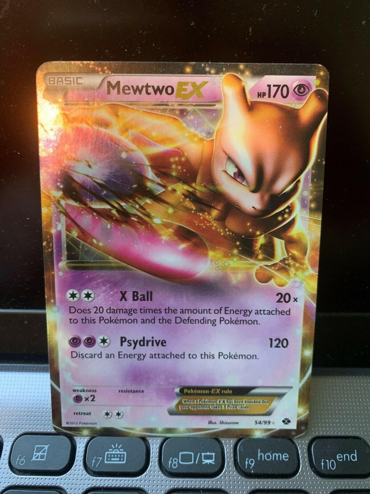 Pokemon Card Next Destinies Holo Mewtwo EX 54//99 LP
