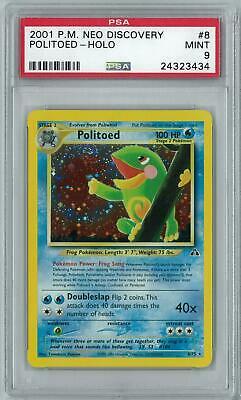 Pokemon Neo Discovery Politoed 8/75 Holo Rare PSA 9 - Image 1