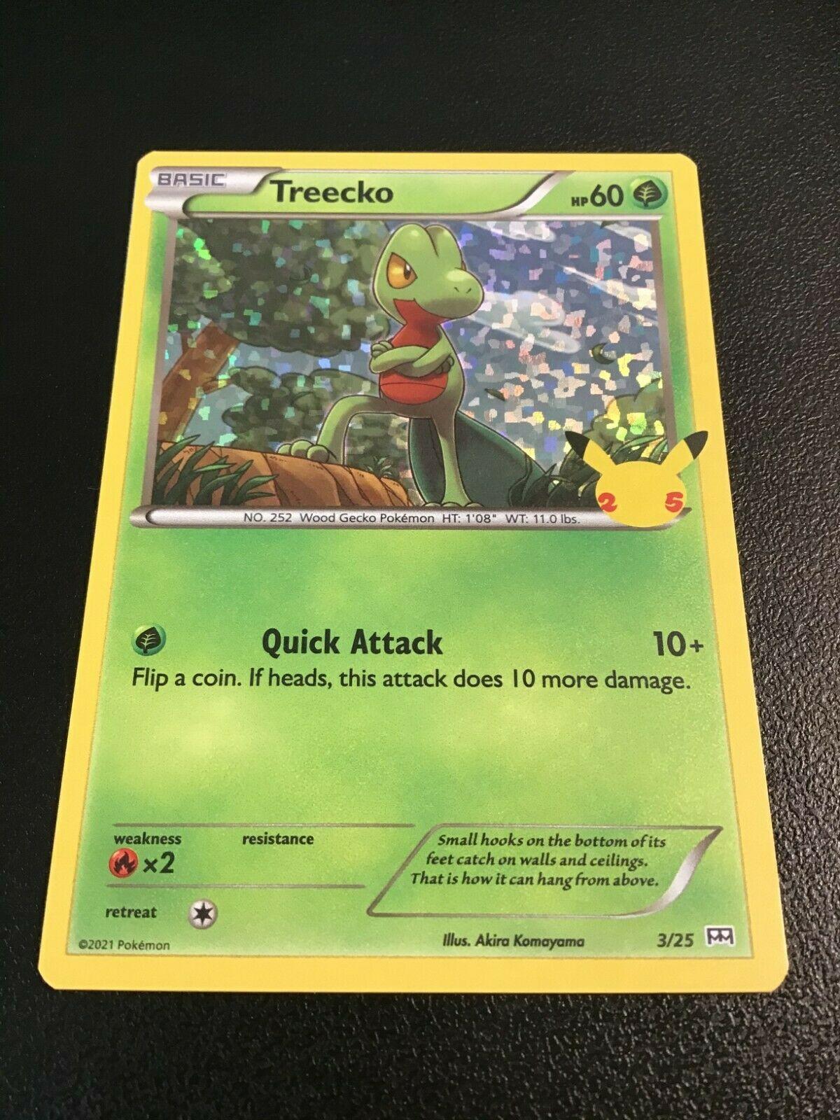 Treecko 3/25 Holo Pokemon Card 25th Anniversary McDonald's Promo 2021