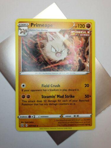 Primeape 067/163 Battle Styles Rare Pokemon Card MINT