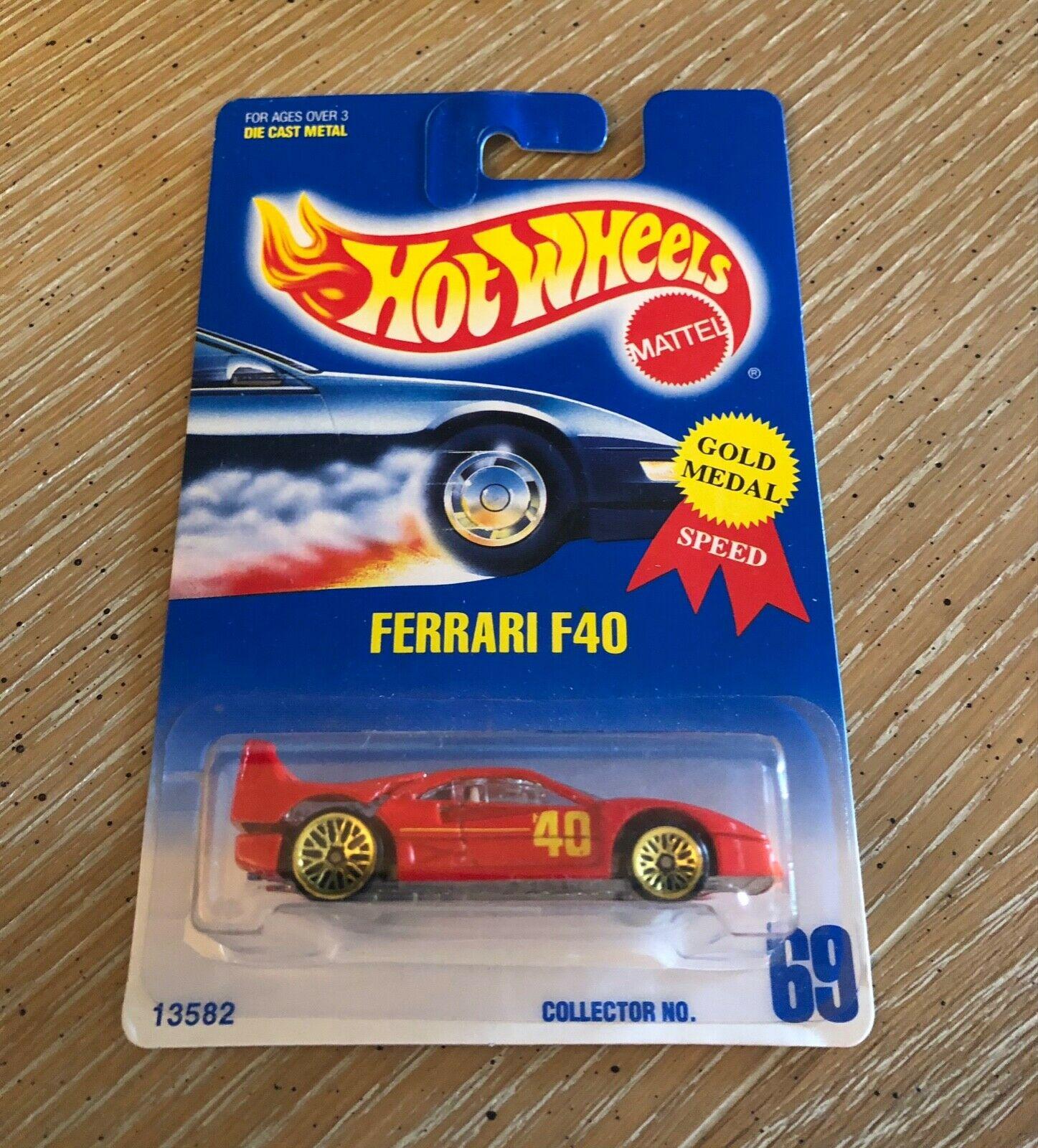 HOT WHEELS BOULEVARD FERRARI F40 1:64 Scale Premium Collectable Die-Cast Vehicle Car HARD TO FIND!!!