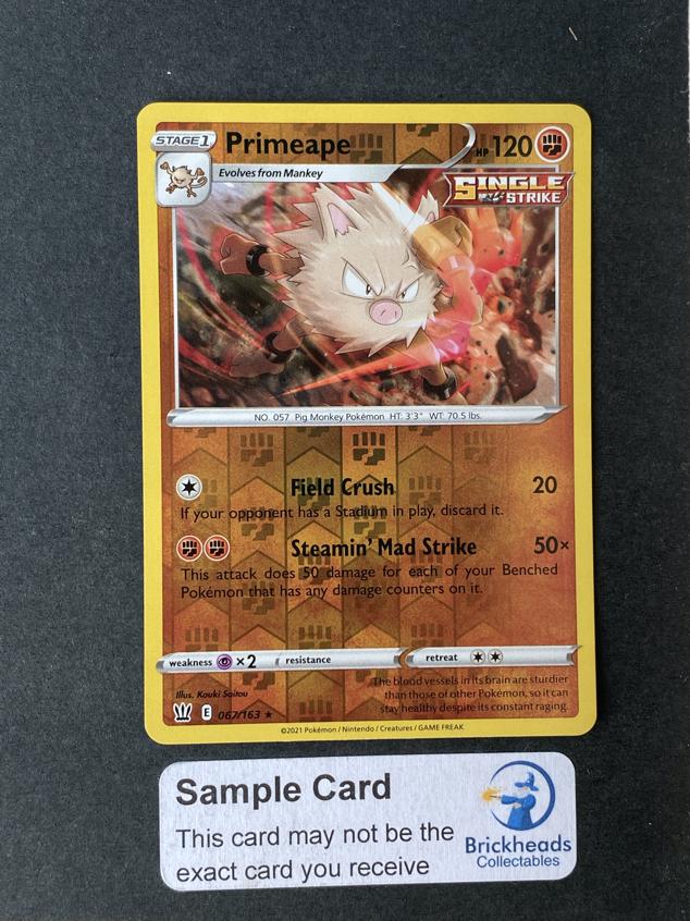 Primeape 067/163 Reverse Holo | SWSH: Battle Styles | Pokemon Card