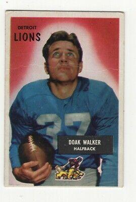 1955 Bowman Football #1 Doak Walker HOFer fair BV $75 - Image 1
