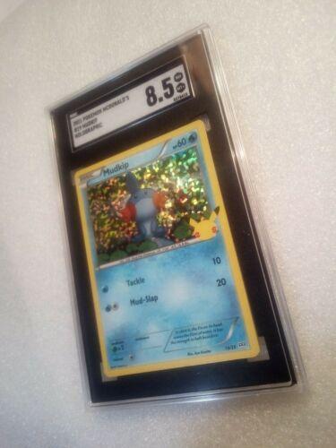 2021 MUDKIP HOLO 19/25 McDonald's Pokemon Card 25th Anniversary SGC 8.5
