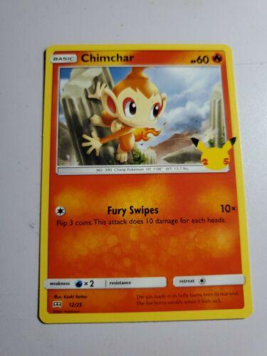 Pokemon McDonald's 25th Anniversary Chimchar 12/25 NON Holo Card 2021
