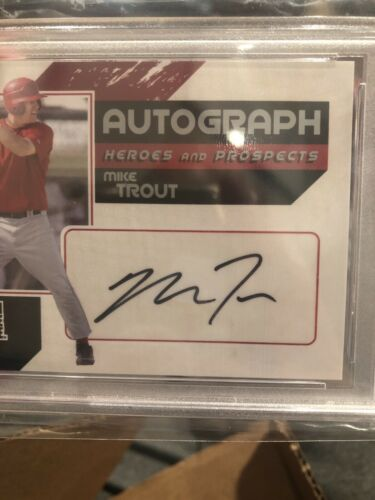 2011 ITG Heroes Prospects Full Body Autograph Silver MIKE TROUT PSA 9 🔥🔥 - Image 2