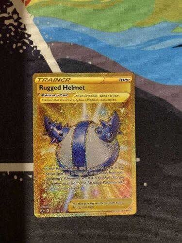 Pokemon Chilling Reign Gold Secret Rare Trainer Rugged Helmet 228/198 - Image 1