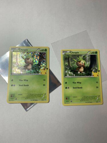 Pokemon Chespin 6/25 Holo and non holo 25th Anniversary McDonald's Promo Cards