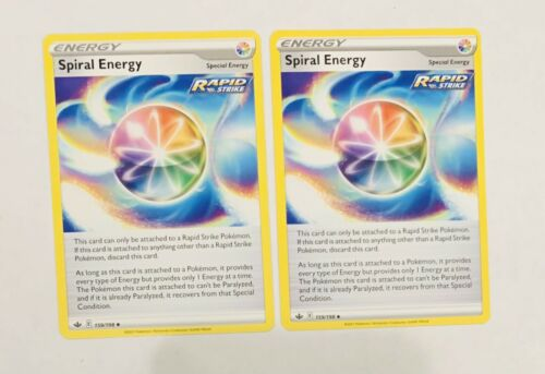 Pokemon TCG Chilling Reign - Spiral Energy 159/198 Set Of 2