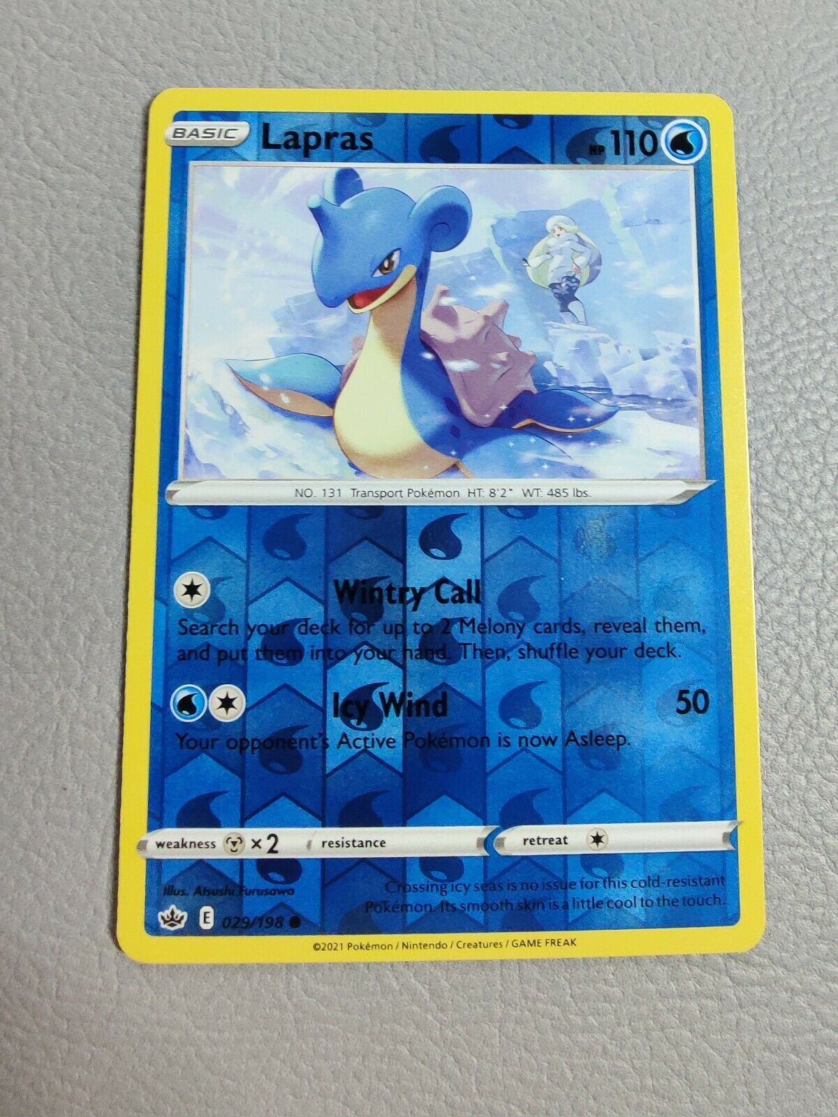 Lapras   Reverse Holo   NM   Chilling Reign 029/198   Common   Pokemon