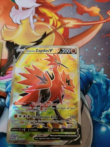 Galarian Zapdos V Full Art 173/198 NM M- Chilling Reign Pokemon  - Image 1