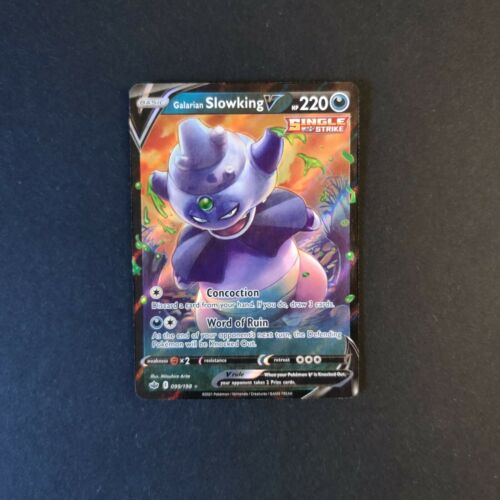 Galarian Slowking V 099/198 NM Mint Chilling Reign Rare Holo Pokemon Card