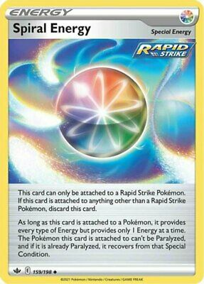 x4 Spiral Energy - 159/198 - Uncommon Pokemon SS06 Chilling Reign M/NM