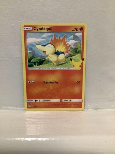 Non Holo Cyndaquil Pokémon Card - McDonald's 25th Anniversary Promo - 10/25