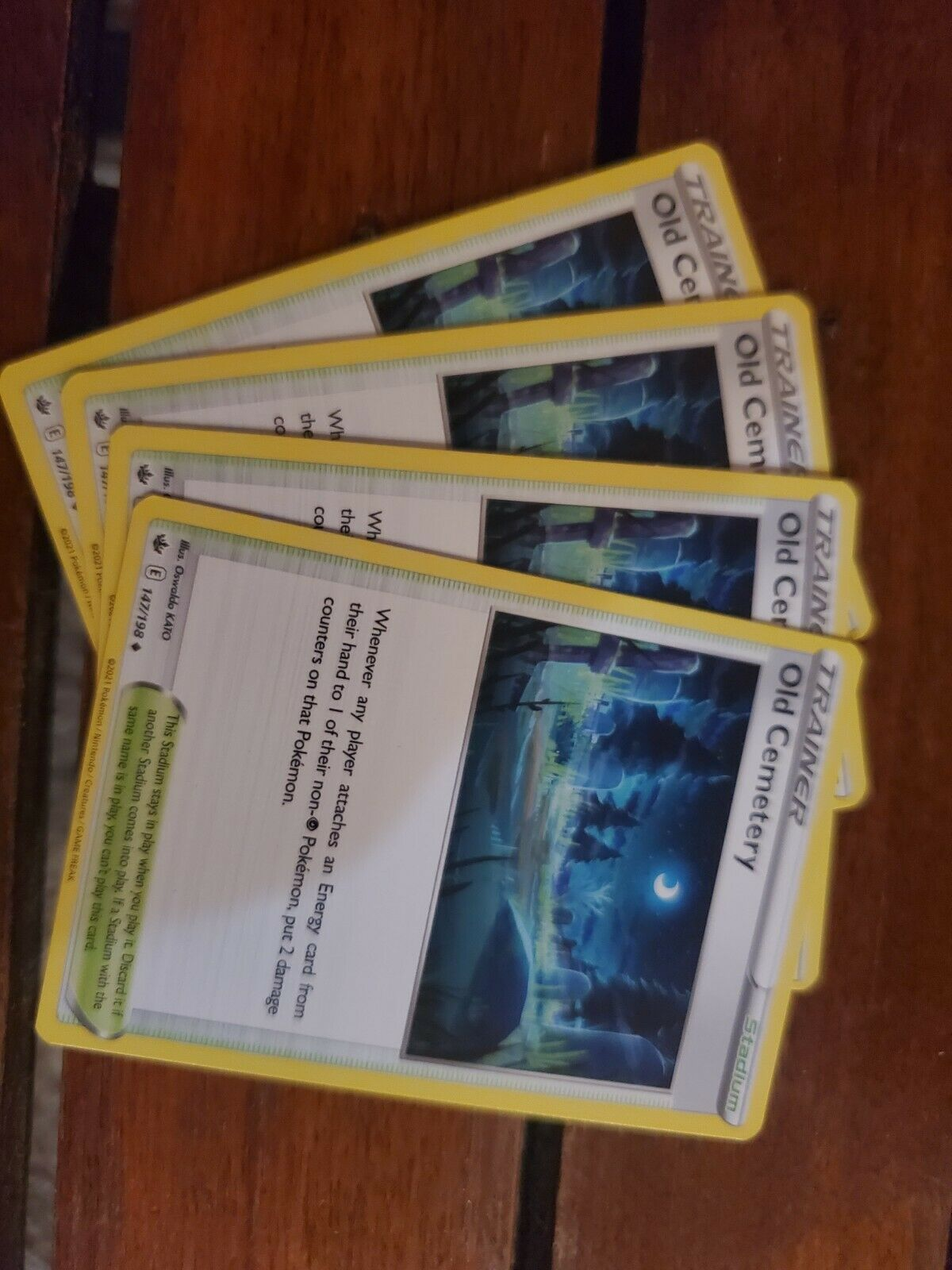 x4 Old Cemetery - 147/198 - Uncommon Pokemon SS06 Chilling Reign M/NM