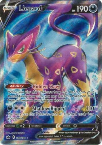 Liepard V - 180/198 Holo Pokemon Card Chilling Reign