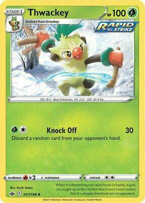 x4 Thwackey - 017/198 - Uncommon - Reverse Holo Pokemon SS06 Chilling Reign M/NM