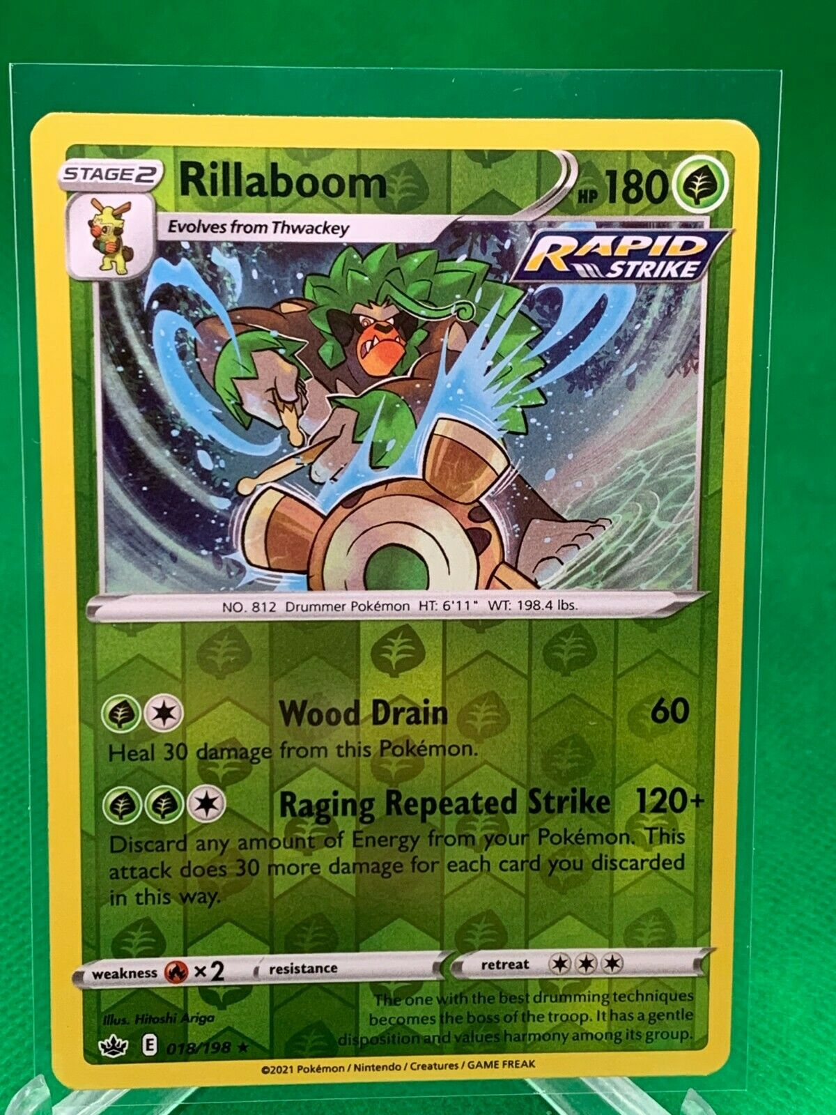 Pokemon - Rillaboom - Chilling Reign - 018/198 - Reverse Holo Rare