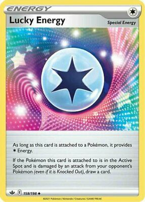 x4 Lucky Energy - 158/198 - Uncommon - Reverse Holo Pokemon SS06 Chilling Reign