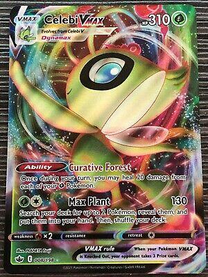 Pokemon : SWSH CHILLING REIGN CELEBI VMAX 008/198 ULTRA RARE