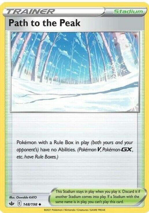 4x Path to the Peak Pokemon Chilling Reign 148/198 Uncommon In Hand